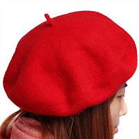 Женский берет красного цвета, фото 1