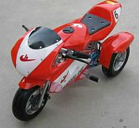 Трёхколёсный детский электромотоцикл HL-Е69 24 v 350 w красный***