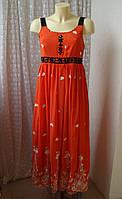 Платье летний сарафан вышивка Borvi р.44 7456