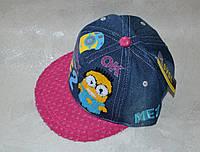 Джинсовая кепка Миньоны