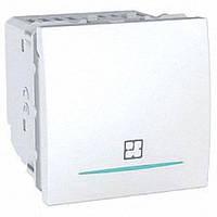 Таймер нажимной 8А 2 модуля Schneider Electric Unica, цвет: белый