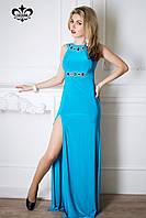 """Вечернее платье в пол """"Джоконда"""" (голубая бирюза), фото 1"""