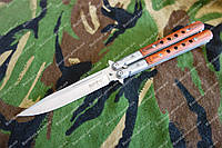Нож-бабочка 225 мм,440с,рукоять дерево ,клипса