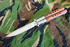 Нож-бабочка B2 ,рукоять дерево ,клипса