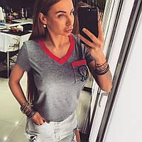 Женская футболка с камнями SVAROVSKI