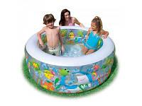Детский надувной бассейн интекс глубокий аквариум