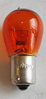 Автомобильная лампа поворотов 24V 21W BA15s оранжевая