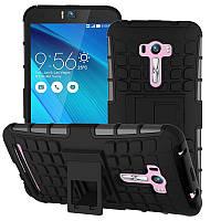 Чехол Armor для Asus ZenFone Selfie ZD551KL противоударный бампер черный