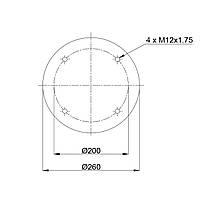 Пневмоподушка Granning RML7023C1 (BLACKTECH)