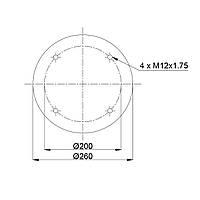 Пневмоподушка Meritor Weweler RML7023C2 (BLACKTECH)