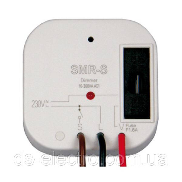 Диммер SMR-S (до 300W, активн.+индукт.нагрузка) (в монтажную коробку)