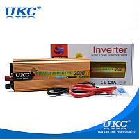 Преобразователь авто инвертор UKC 24V-220V 2000W