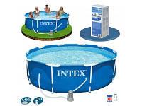 Каркасный бассейн интекс круглый большой