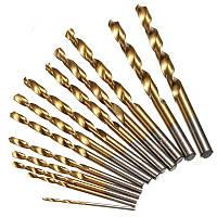 Набор Сверл Сверла с титаном 13 шт 1.5 - 6.5 мм