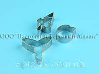 Вырубка металлическая из 3 деталей - Орхидея
