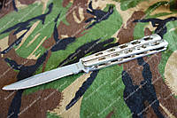 Складной нож-балисонг Grand Way ,Рукоять металл 22.7 см