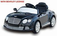 Легковой детский электромобиль Bentley T-7913 BLACK с MP3 120*67.5*48см