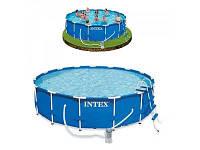 Каркасный бассейн интекс круглый,большой