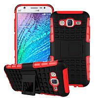 Чехол противоударный Samsung J5 2015 / J500H / J500 / J500F бампер красный