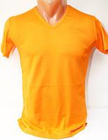 Футболка мужская стрейч-коттон оранжевая производства Турции