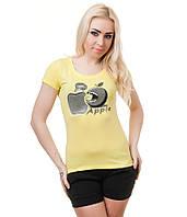 Футболка женская  Яблоко желтая, фото 1