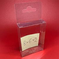 Упаковка из пластика с европодвесом. 8х6х2см