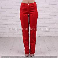 Женские медицинские брюки красного цвета SM 1006-2 Грация