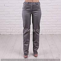 Плотные медицинские брюки серые коттон SM 1006-3 Грация