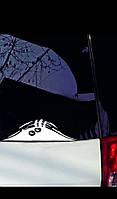 """Виниловая наклейка на машину серебристая """"монстр"""""""