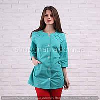 Медицинская женская блуза на пуговицах SM 1003-1 Х/Б Sofiya