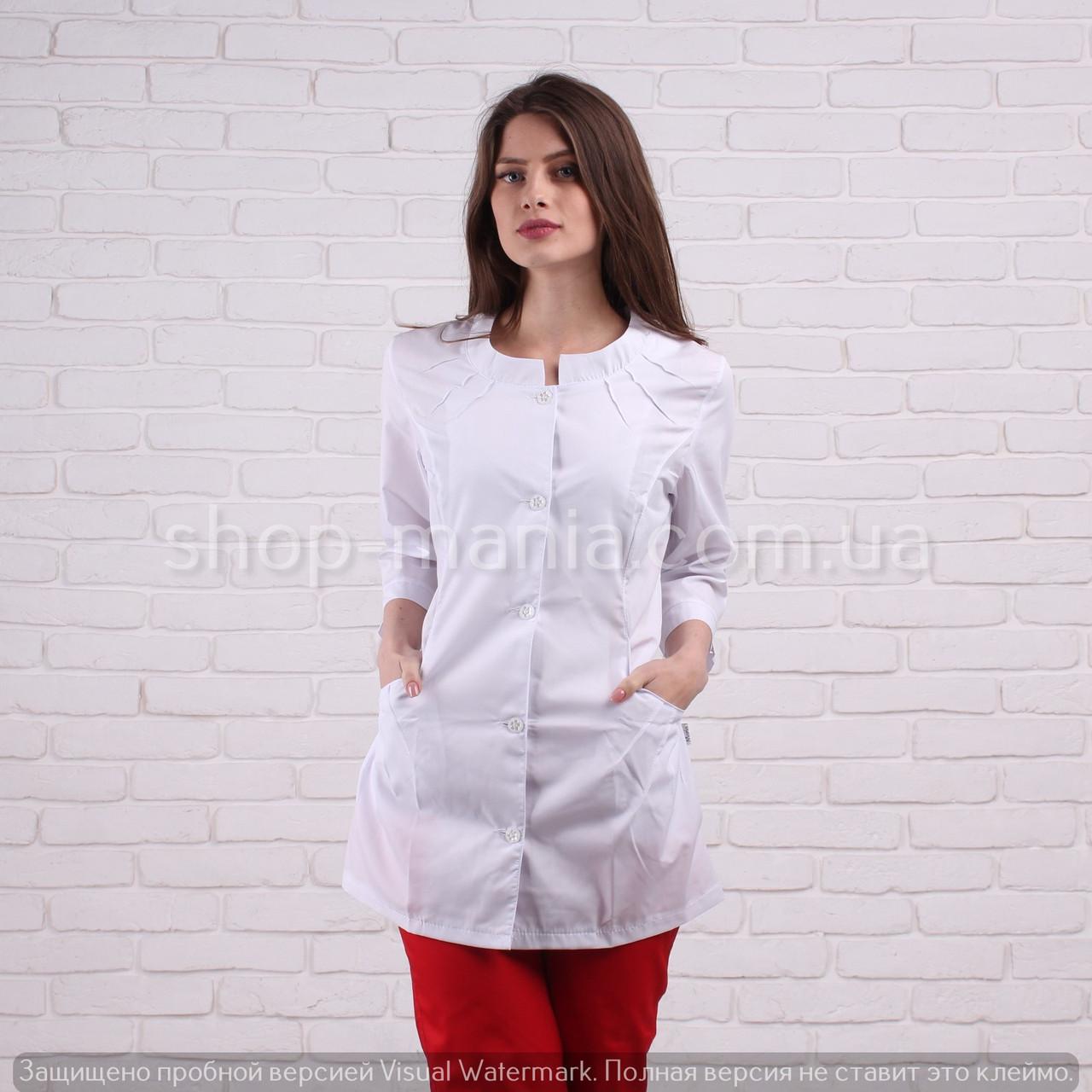 Медицинская куртка женская белая SM 1003-3 хб Sofiya (белый) 42-64р