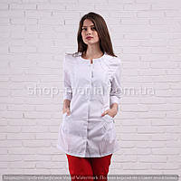 Медицинская куртка женская белая SM 1003-3 хб Sofiya (белый) 42-64р, фото 1