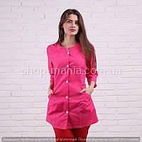 Куртка медицинская женская Х/Б Sofiya малиновая 42-64р, фото 1