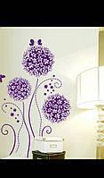 Наклейка виниловая на стену Романтический цветок одуванчика 62*100см.
