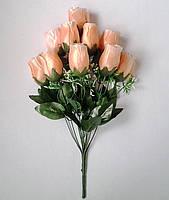 Букет искусственных цветов Роза бутон атласный , 48 см, фото 1