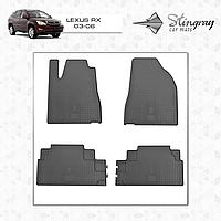 Коврики резиновые в салон Lexus RX c 2006 (4шт) Stingray