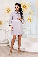 Демисезонное женское светло-серое пальто  В-1015 Aрт.160416 Тон 72 44-54 размер
