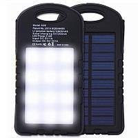 Портативное зарядное устройство Power Bank UKC 10800 mah 2в1 Solar+Led