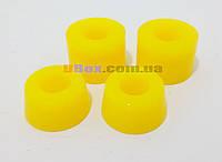 Жесткие Бушинги. 2 Комплекта амортизаторов для скейтборда и пенни борда ( 2 верхние и 2 нижние резинки )