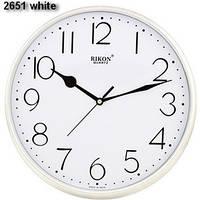 Часы  RIKON quartz 2651 кругл., бел цифербл. D28см
