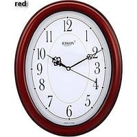 Часы  RIKON quartz 8651 ЧЕРВОН. овал., бел цифрбл.