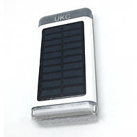 Портативное зарядное устройство Power Bank UKC 15000 mah Solar+Led
