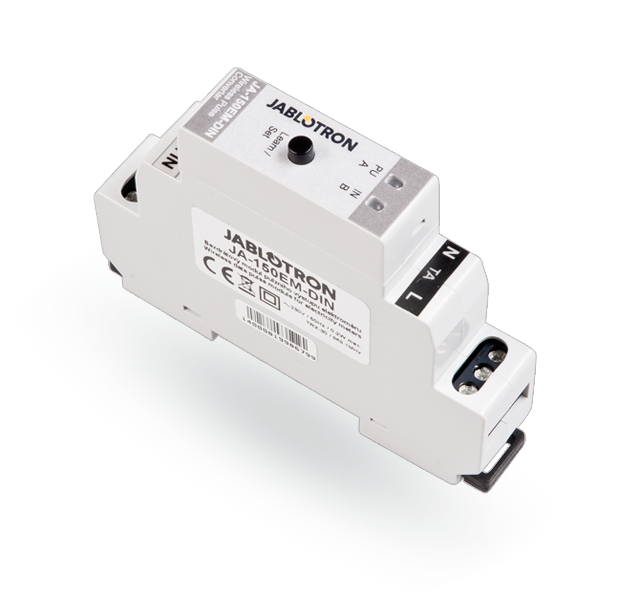 JA-150EM-DIN Беспроводный модуль для импульсного выхода електрического счетчика, фото 1