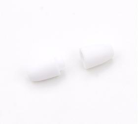 Застежка для бус пластиковая, белая