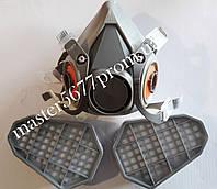 Респиратор с двумя картриджами (прямоугольными)