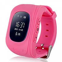 Детские смарт-часы телефон Q50 с GPS трекером розовые
