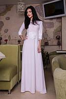 Королевский наряд-платье в пол Оливия пудра
