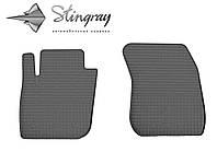 Резиновые коврики Stingray Стингрей Форд Мондео 2015- Комплект из 2-х ковриков Черный в салон. Доставка по всей Украине. Оплата при получении