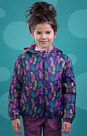 Куртка на синтепоне для девочки Зиронька Перышки (р.116,122,128)