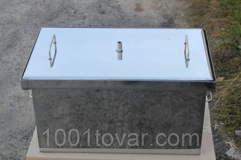 Коптильня велика з гідрозатворів з нержавіючої сталі (520x300x280)